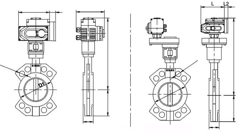 电动衬氟蝶阀结构图
